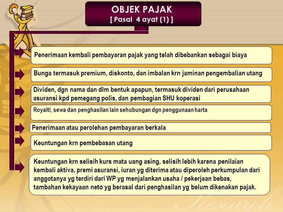 OBJEK PAJAK [ Pasal 4 ayat (1) ]